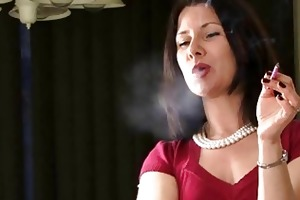 hawt smoker mother i talks during the time that