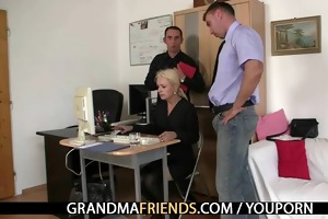 co-owners group-sex hot older lady