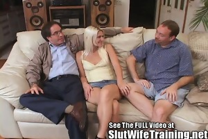 blondie wifey cuckold hubby watches sex