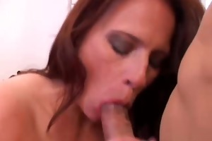 pretty aged sweetheart likes to engulf cock