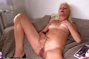 granny has pleasure with youthful girl