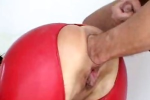 bizarre mature dilettante latex wife way-out anal