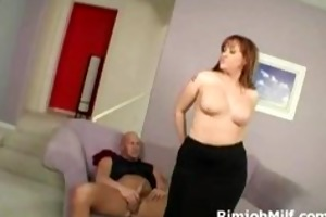 hawt brunette hair mother i gives rimjob to
