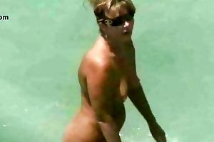 stripped beach aged voyeur