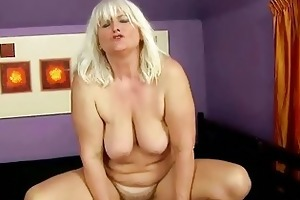 wicked breasty corpulent granny receives drilled