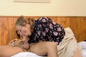 naughty aged woman getting