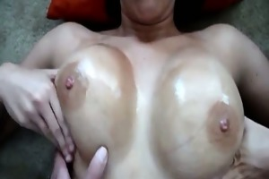 filming wifes oiled bumpers