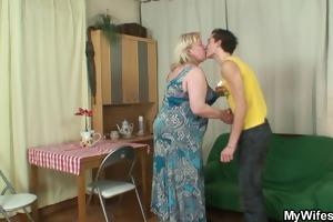 concupiscent granny seduces her son in law