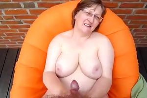 granny get cream in her body