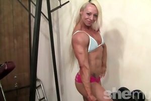 nathalie - her hair is hawt pink. her muscles are
