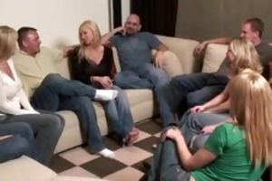 party game leads to a giant fuckfest swinger wives