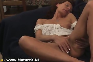 older woman is laying part5