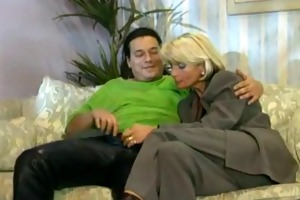 blond german cougar sexy fuck on daybed by troc