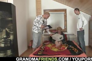 aged lady enjoys new ramrods