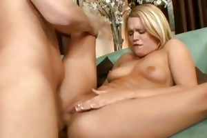 amazing blonde bitch wife rammed roughly on the