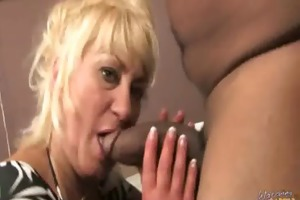 busty mommy copulates and sucks a massive black