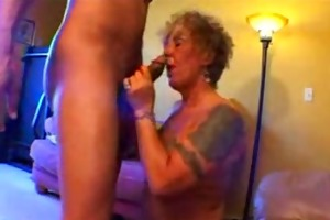 tattooed old biker hottie acquires freaky