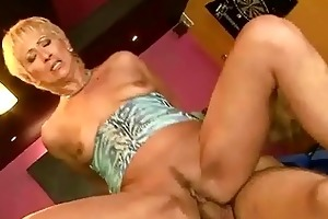 sexy granny enjoys juvenile pecker in her cum-hole