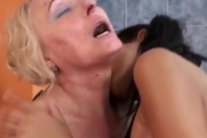 golden-haired older wife receives her large part5