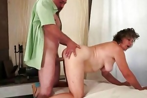 unshaved granny enjoying wicked sex