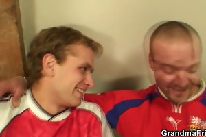 football fans gangbang old doxy