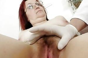 unshaved grandma enema during a medical exam