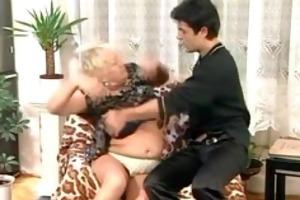 granny fucks a younger chap