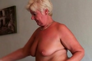 incredibly sexed grandma sandie rubs her pierced