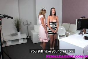 femaleagent milf strikes favourable with a vision