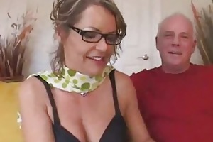 old guy suggests wife to randy stud