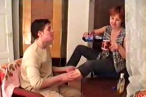 drunk mom and son filmed by father