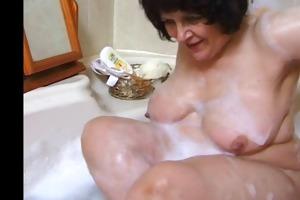 corpulent grandma in baths