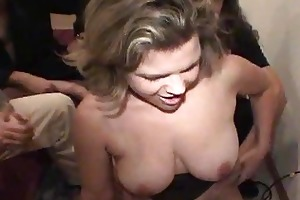 youthful wife schooled in gang team fuck skills!