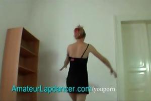 czech housewife lapdances on hard schlong