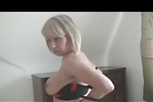 breasty golden-haired mild bonks her shaven snatch
