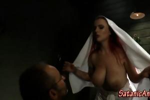 femdom nun dominates slavery guy