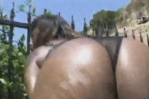 black playgirl disrobes and receives her twat