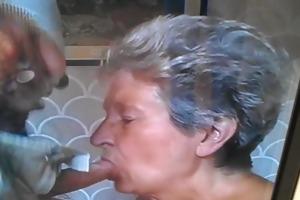 granny sucks jock