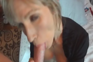 she is works hard to receive her mouthful of cock