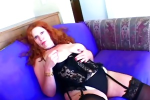charming older fucking with toy