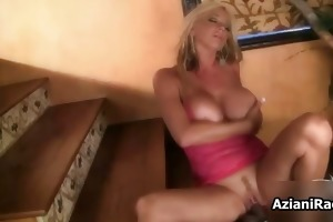 breasty blond sweetheart goes insane riding part1