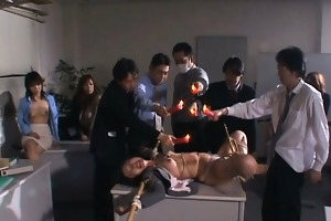 jap sex serf punished with sexy wax trickled on