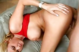 blond momma with large muffins acquires drilled