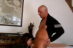 obese brunette hair mature lady can engulfing