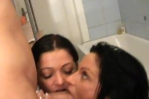 2 non-professional mother i double oral-job with