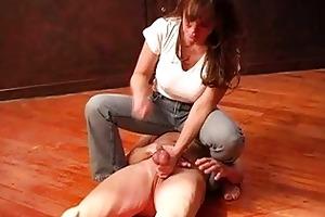 older female-dominator bizarre balls torment