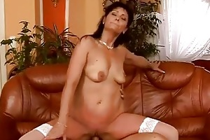 aged dark brown has sexy sex with her juvenile