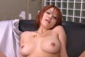 dirty redhead oriental honey showing off her hot