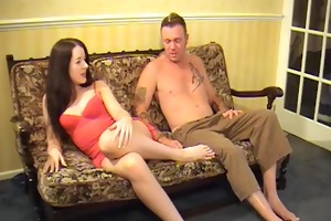 controlling her chap with her feet and butt