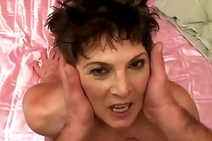 lusty bulky granny gets drilled hard